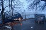 Nehoda na náledí u Žešova