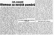 Článek z olomouckého Našince 17. března 1939