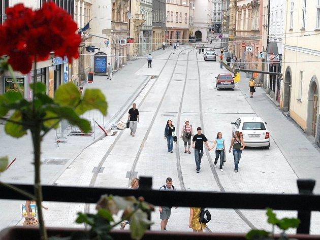 Ulice Pekařská v Olomouci, s ní problémy nejsou.