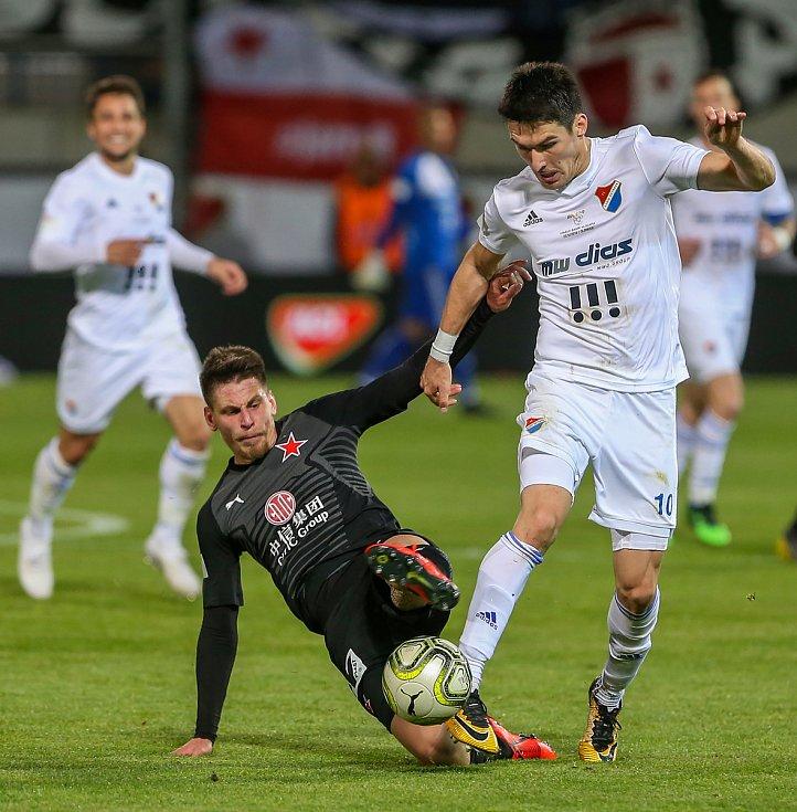 Finále fotbalového poháru MOL Cupu, Baník Ostrava - Slavia Praha 22.května 2019 v Olomouci. Robert Hrubý zBaníku Ostrava.