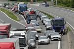 Oprava frekventované silnice I/55 Olomouc - Přerov u Vsiska, 7. července 2020