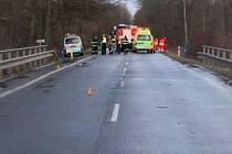 Tragická srážka fabie s vozem hasičů u Pňovic, 10. února 2020