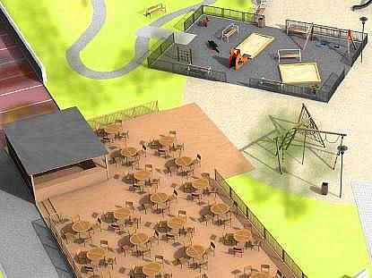 Vizualizace podoby nového hřiště u Michalského výpadu. Zdroj: MmOl