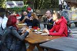 Festival plný netradičních pokrmů Extreme food festival v areálu Letního kina v Olomouci.