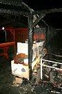 Požár zahradní chatky u Grygova