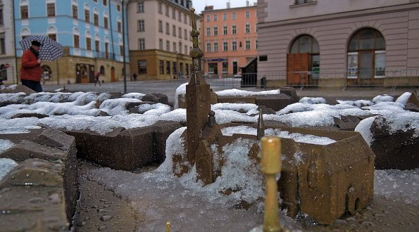 Jarní nečas vcentru Olomouce - 31.3. 2015