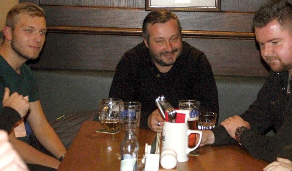 Na vyhlášení TIP ligy - podzim 2018 dorazil i David Kobylík (uprostřed)