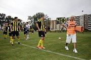 Fotbalisté Nových Sadů (v černožlutém) porazili Brumov 4:0