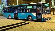 Nízkopodlažní linkový autobus Iveco řady Crossway. Ilustrační foto