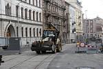 Opravy v Palackého ulici v Olomouci. 16.8. 2019