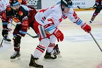 První zápas čtvrtfinále Generali Česká pojišťovna play-off Tipsport extraligy mezi Spartou Praha a Olomoucí.