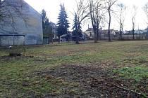 Pozemek v olomoucké čtvrti Pavlovičky na konci Lindnerovy ulice