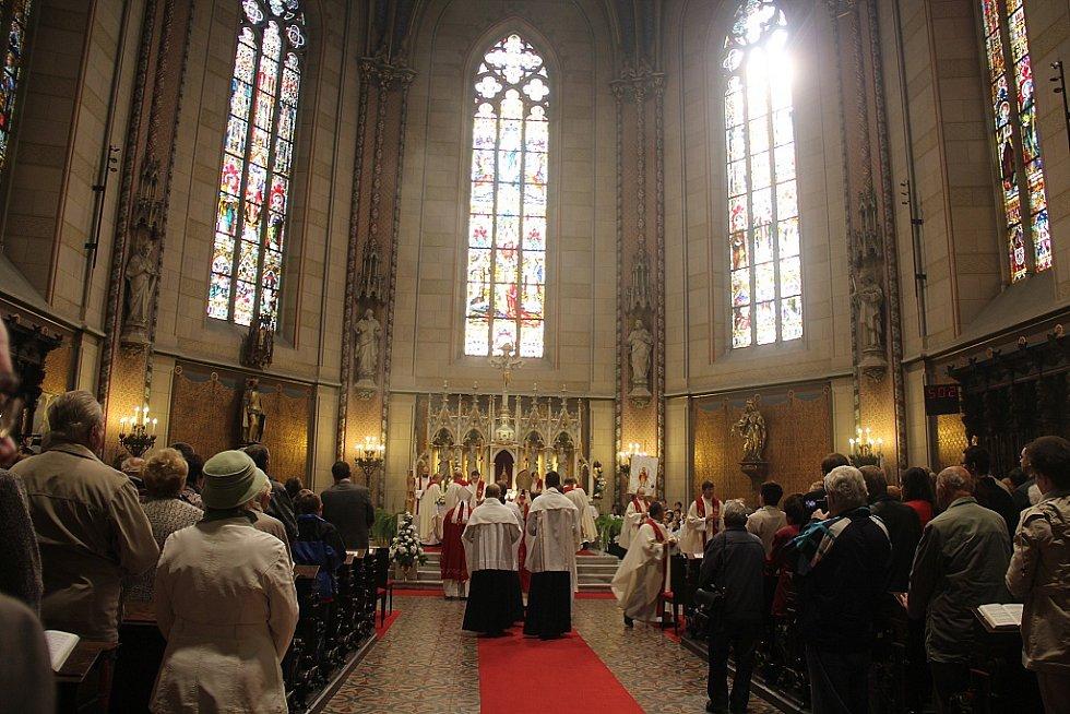 Oslavy sv. Václava v olomouckém dómu