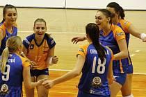 Volejbalistky Olomouce porazily Prostějov 3:0.