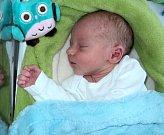 Jan Dobeš, Šternberk, narozen 21. dubna ve Šternberku, míra 48 cm, váha 3060 g