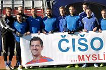 Fotbalistí Sigmy na dálku podpořili Mariána Čišovského, který trpí vážnou chorobou ALS