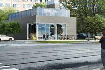 Vízualizace nové knihovny v Trnkově ulici v Olomouci