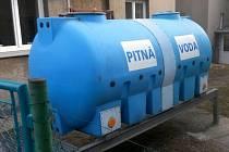 Cisterna s pitnou vodou ve Městě Libavá