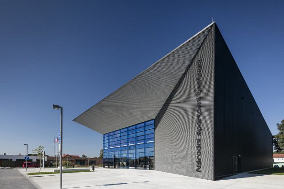 Národní sportovní centrum v Prostějově. Autor Miroslav Pospíšil