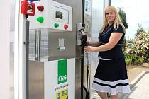 Čerpací stanice na CNG v Lipenské ulici v Olomouci
