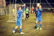 Olomouc slaví vítězství, vpravo Tomáš Janotka.