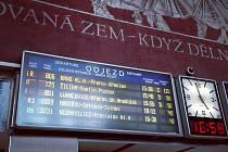 Zpoždění vlaků na hlavním nádraží v Olomouci
