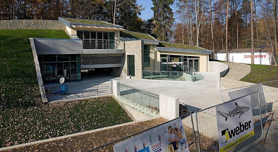 Stavba nového vstupu do olomoucké zoo na Sv. Kopečku