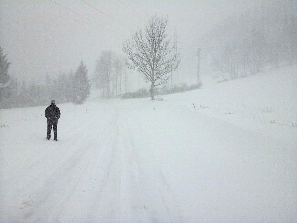 silnice přes Ramzovské sedlo