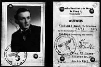 Průkaz Vladimíra Haana, dokládající jeho studium na hudební škole vobdobí tzv. Protektorátu (RA Haanů zLöwenbergu – soukromá sbírka)
