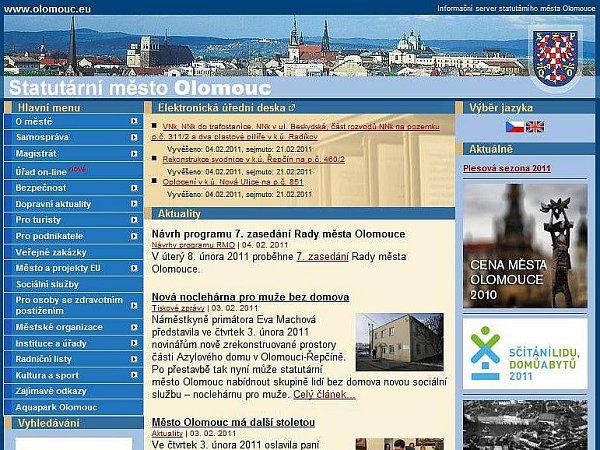 Oficiální web Olomouce