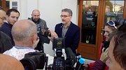 Úterní brífink lídra ANO a kandidáta na olomouckého primátora Miroslava Žbánka.