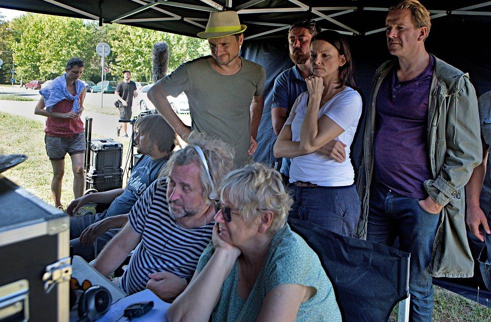 Natáčení televizního seriálu Živé terče v Olomouci
