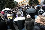Pietní akt v Uherském Brodě k uctění památky obětí úterního masakru