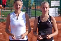 Kriegsmannová (v bílém) a Gerlová ve finále ITS Cupu 2009