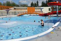 Novinka letošní turistické sezony v Olomouckém kraji: venkovní areál termálního aquaparku ve Velkých Losinách