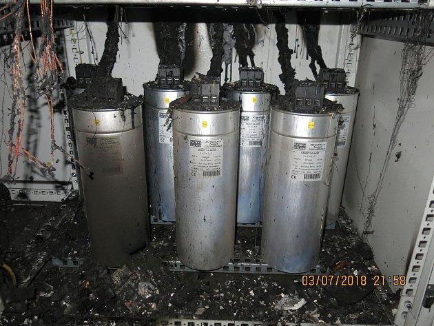 V Hodolanech hořel transformátor, škoda je 100 tisíc