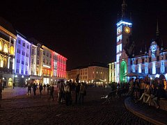 Vzáří - festival světla a videomapingu na Horním náměstí v Olomouci