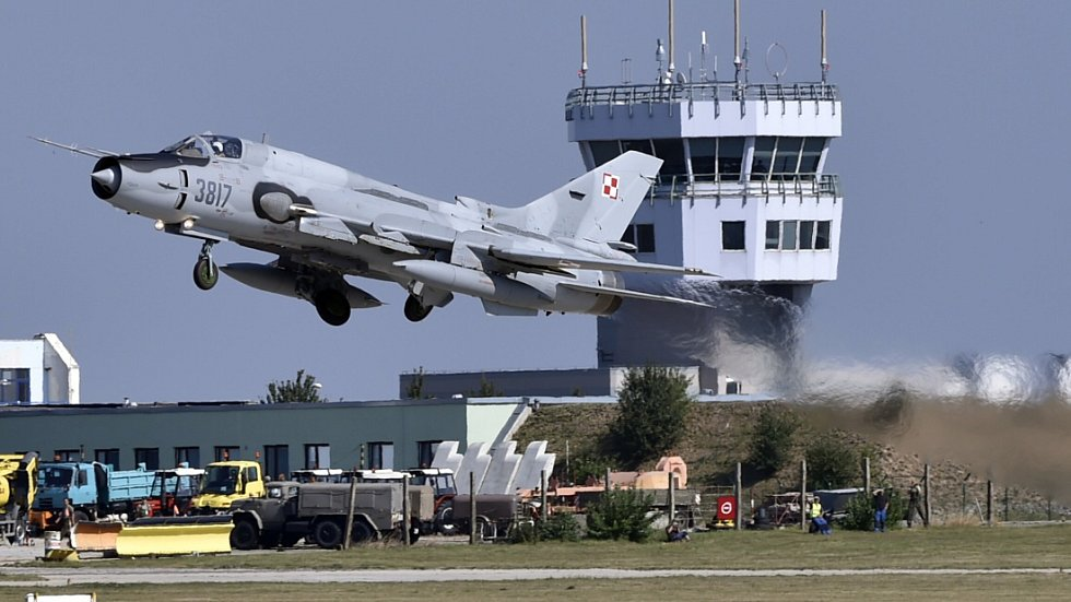 Stíhací bombardér Suchoj Su-22 polské armády