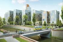 Budoucí Šantovkou by měla projíždět tramvaj. Dominancí by pak měla být výšková budova.