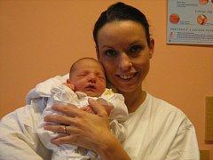 Oliver Otiepka, Náklo, narozen 20. září v Olomouci, míra 51 cm, váha 3480 g