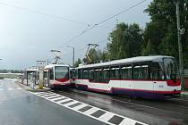 Úterní bouřka zkomplikovala dopravu v Olomouci