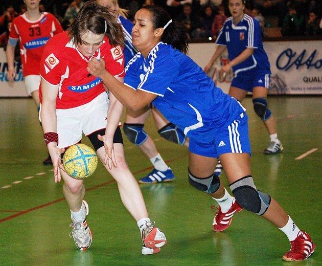 Reprezentační turnaj juniorek v Olomouci.