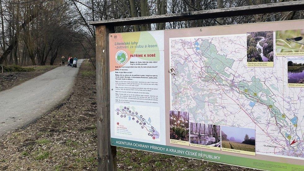 Stezka na Poděbrady podél Mlýnského potoka, sobota 13. března 2021