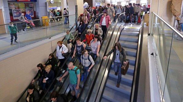Nové eskalátory na hlavním nádraží vOlomouci