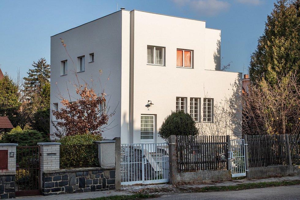 Rodinný dům Vladimíra Müllera v Olomouci po obnově.