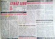 Stráž lidu - obdeník olomouckých komunistů dva týdny po 17. listopadu