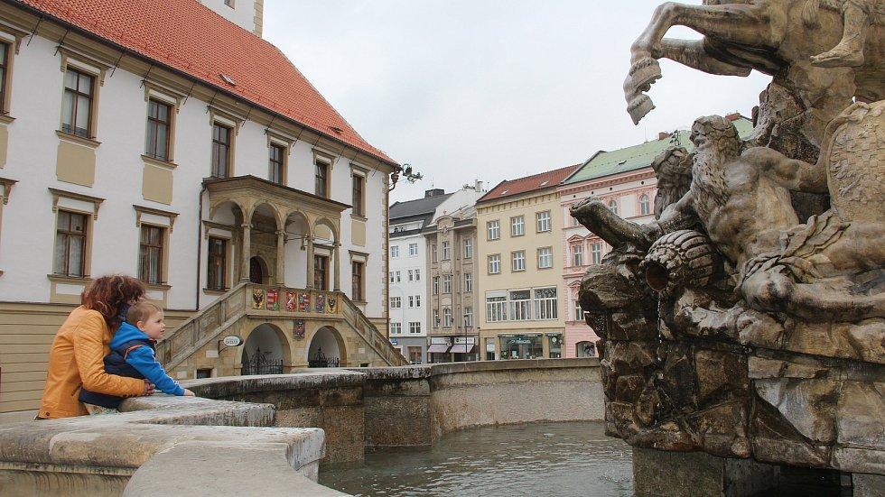 Olomoucké kašny s tryskající vodou - 29. 4. 2021