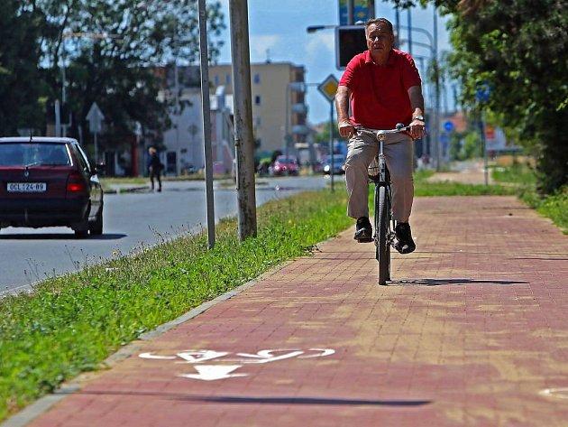 Cyklostezka v Olomouci. Ilustrační foto