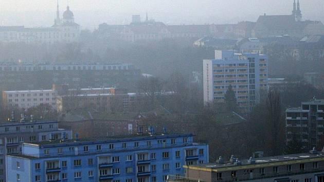Inverze v Olomouci