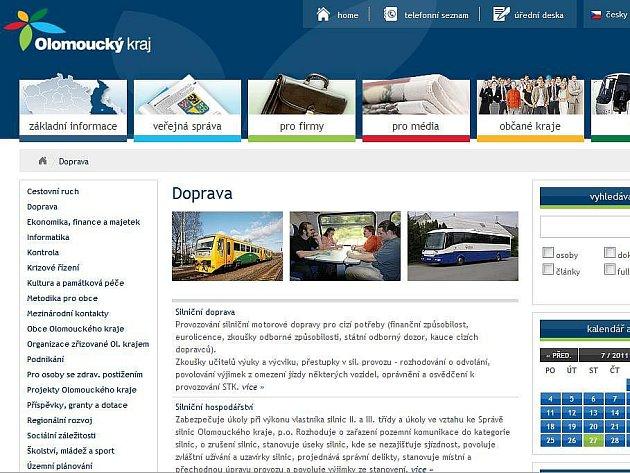 Nový web Olomouckého kraje